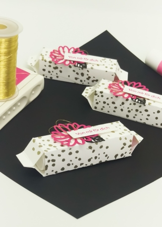 Stampin' Up Goodie Gastgeschenk Labelloverpackung Besondere Grüße Pink mit Pep 6 mitliebeundpapier.wordpress.com