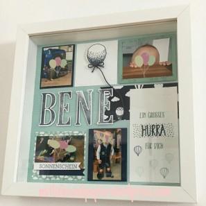 ein bilderrahmen zum 2 geburtstag stampin up mit liebe und papier. Black Bedroom Furniture Sets. Home Design Ideas