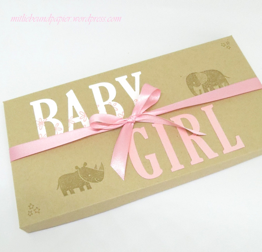 stampin up berlin babyparty diy deko geschenkbox something for baby zieretikett letters for you. Black Bedroom Furniture Sets. Home Design Ideas