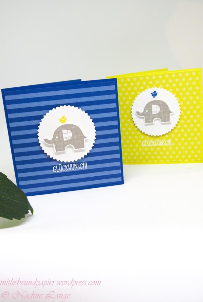Stampin' Up! Berlin Elefantatstisch Karte Kind Geburt Geburtstag Anleitrung schnell gemacht 2 mitliebeundpapier.wordpress.com