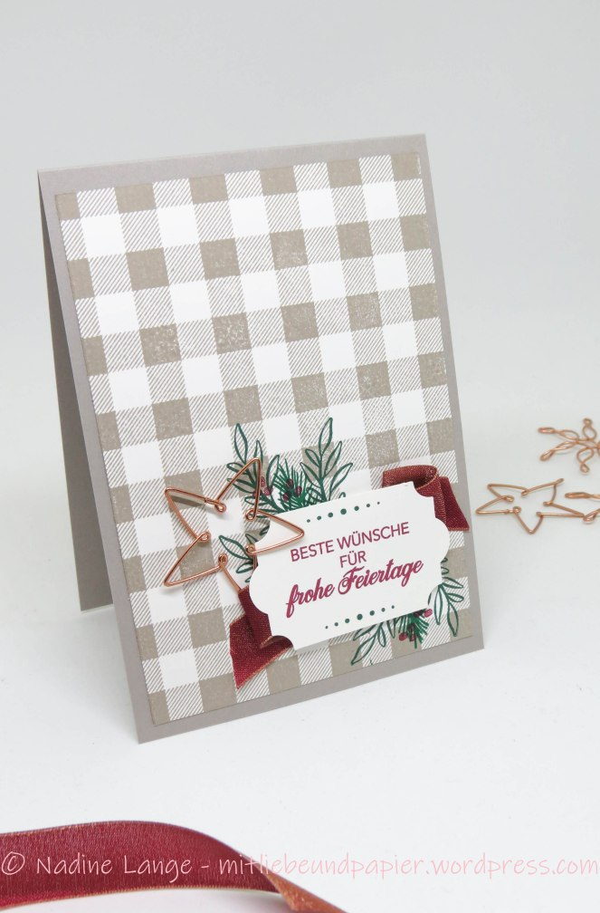 Stampin' Up! Besinnlicher Advent Buffalo Check Weihnachtskarte Etikett für jede Gelegenheit 1 mitliebeundpapier.wordpress.com