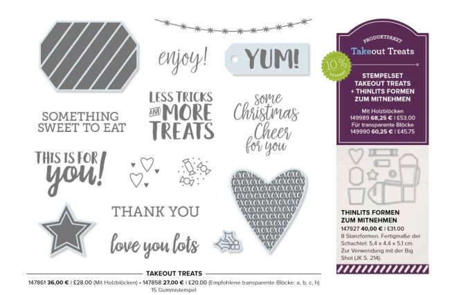 Stampin' Up! Takeout Treats