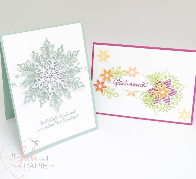Stampin' Up! Berlin Flockengestöber Glanzfarbe Weihnachten Karten 0 mitliebeundpapier.wordpress.com