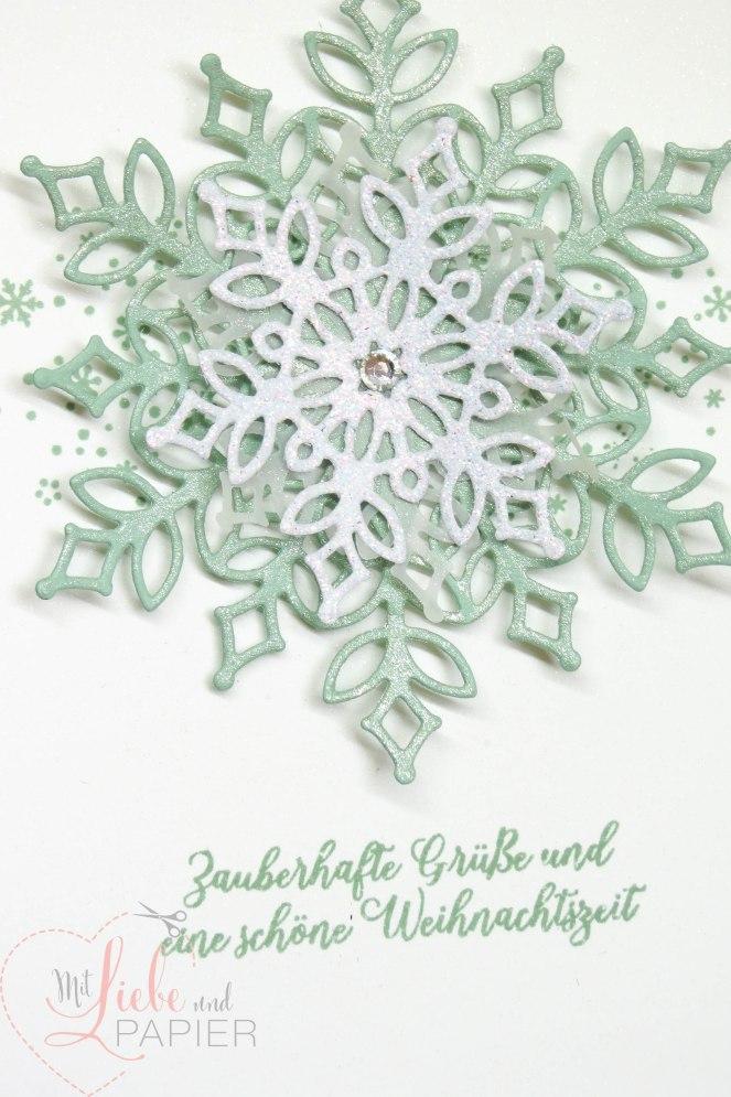 Stampin' Up! Berlin Flockengestöber Glanzfarbe Weihnachten Karten 4 mitliebeundpapier.wordpress.com