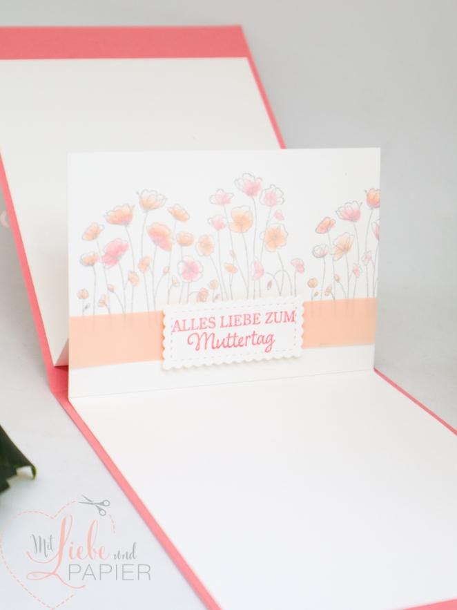 Stampin' Up! Berlin So gesagt Muttertag Besondere Karte Herzregen Von Herzen Painted Poppies 4 mitliebeundpapier